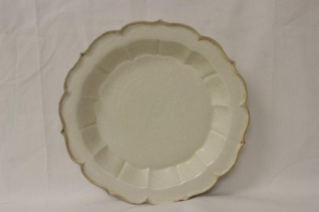 Song style white porcelain plate