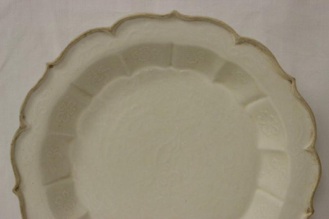Song style white porcelain plate - 3
