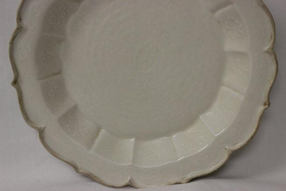 Song style white porcelain plate - 4