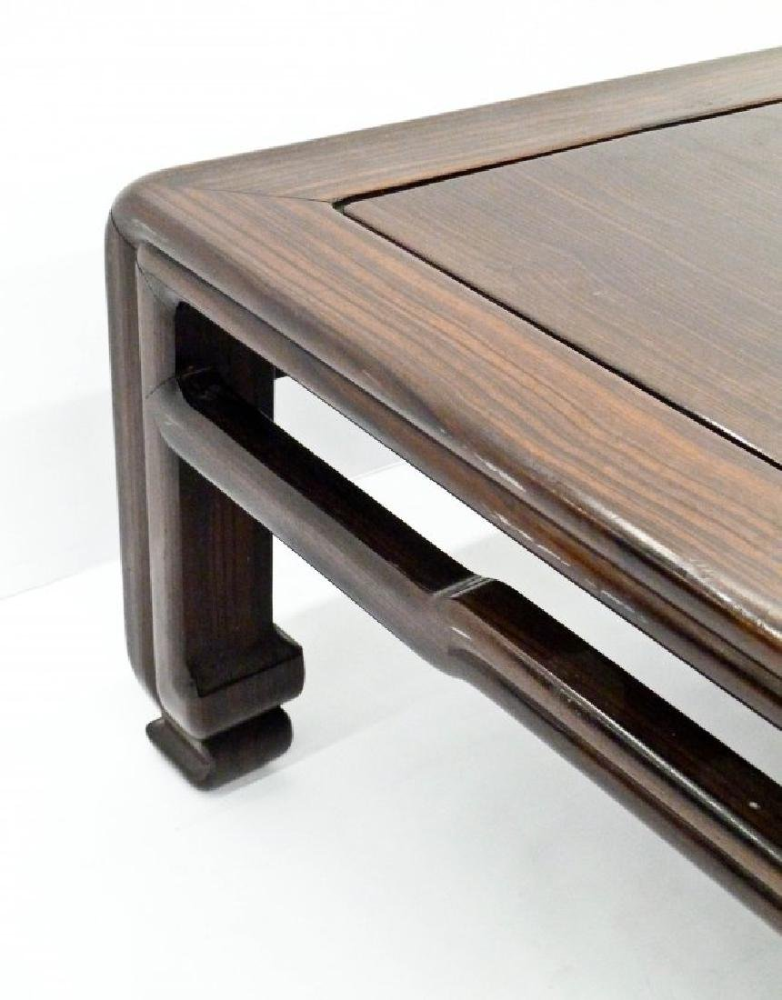 A Chinese Rosewood Low Table 12''x35''x35''. A carved - 3