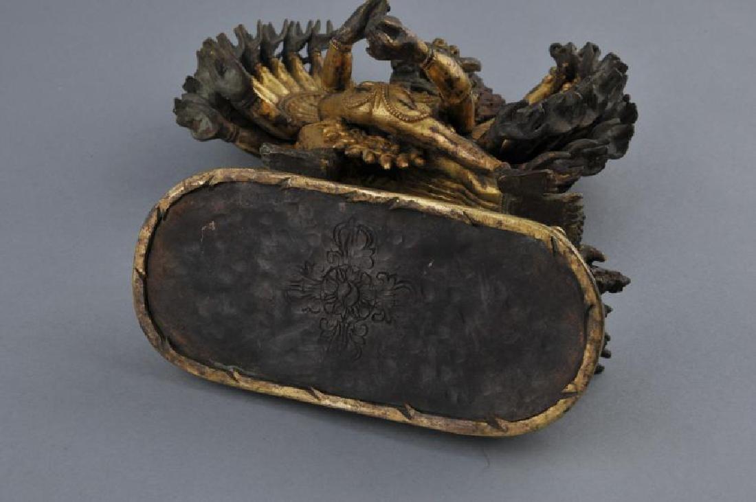 Gilt bronze image. Sino-Tibetan. 18th century. Figure - 7