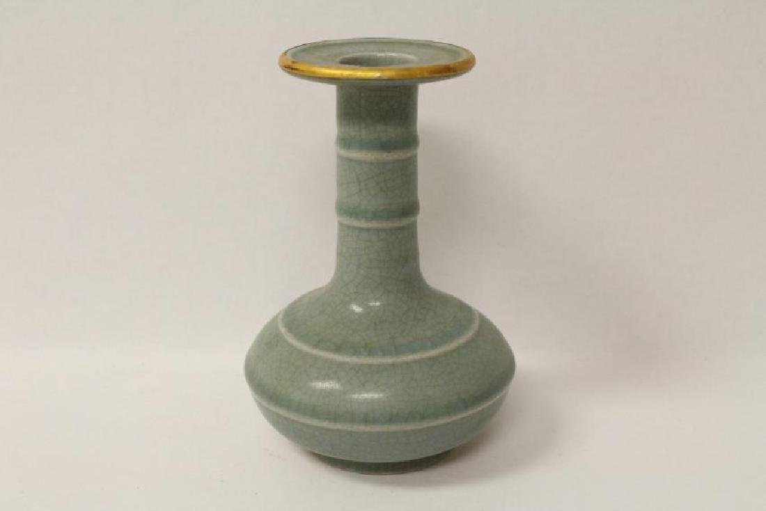A small Song style celadon vase