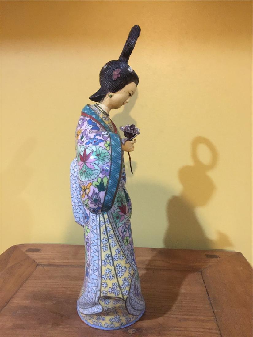one cloisonne beauty figurine A - 2