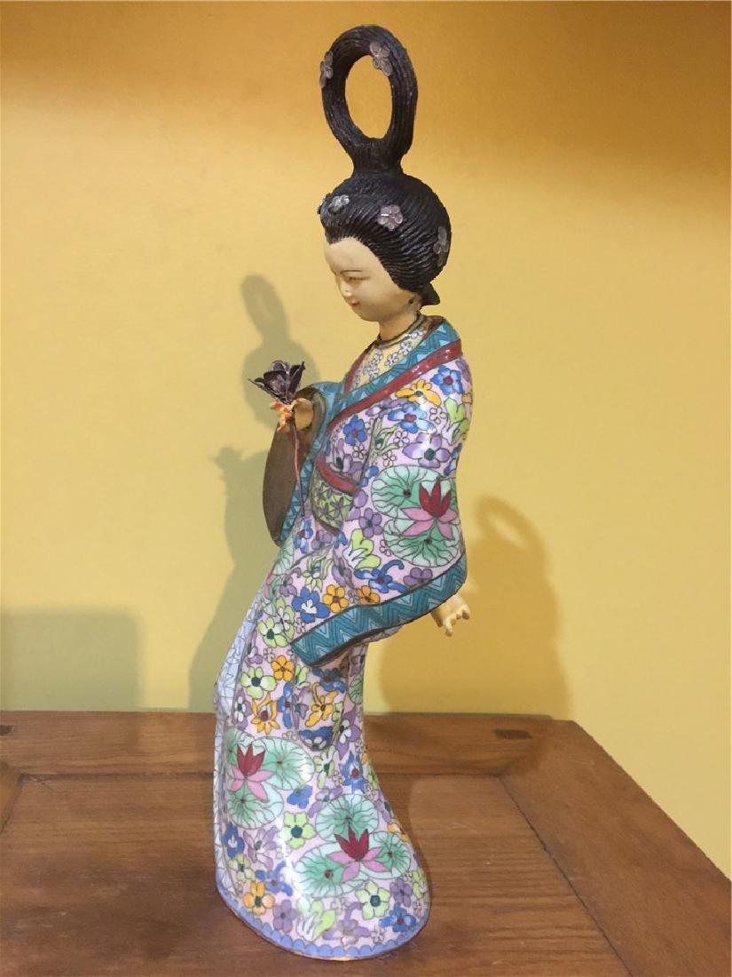 one cloisonne beauty figurine A - 4