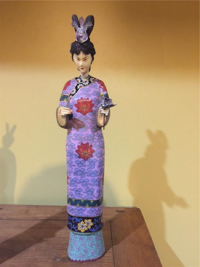 one cloisonne beauty figurine B