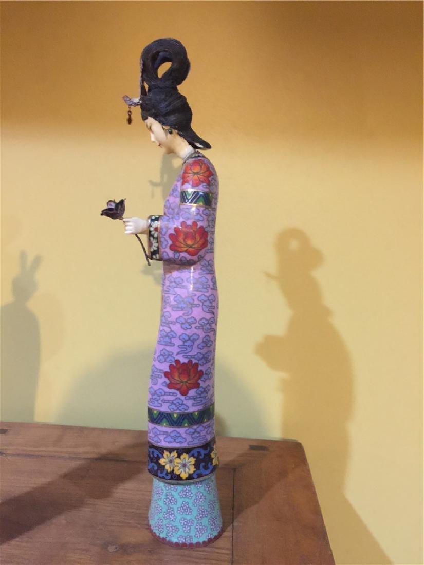 one cloisonne beauty figurine B - 2