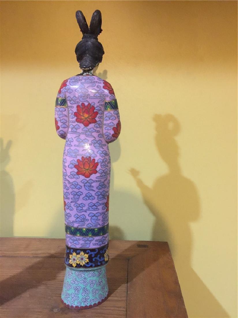 one cloisonne beauty figurine B - 3