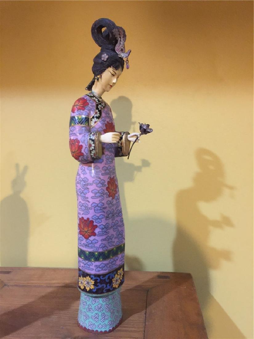 one cloisonne beauty figurine B - 4