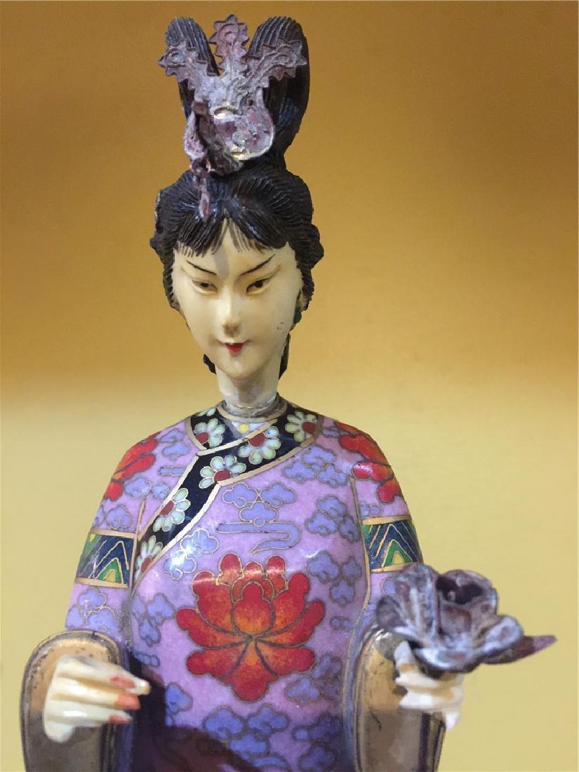 one cloisonne beauty figurine B - 5
