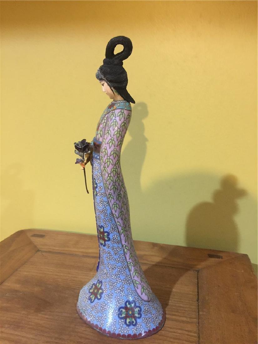 one cloisonne beauty figurine C - 2