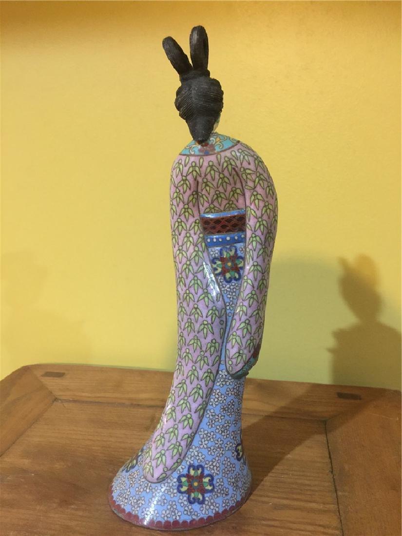 one cloisonne beauty figurine C - 3