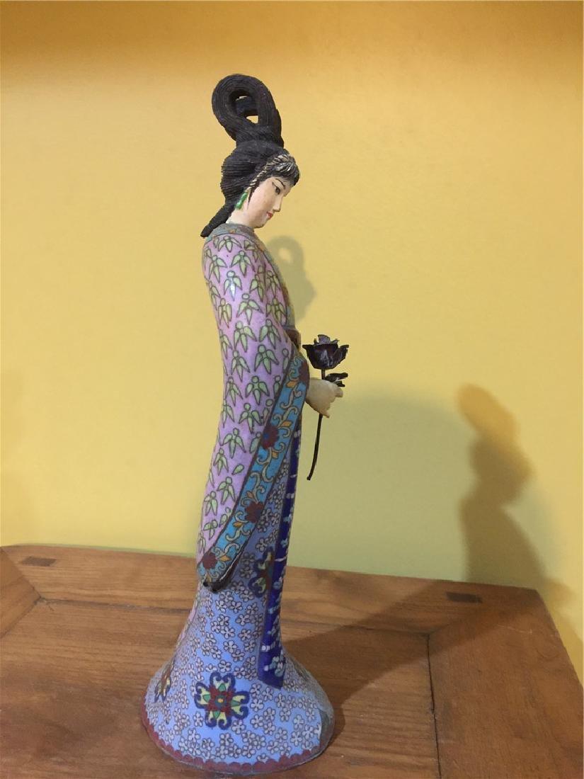 one cloisonne beauty figurine C - 4