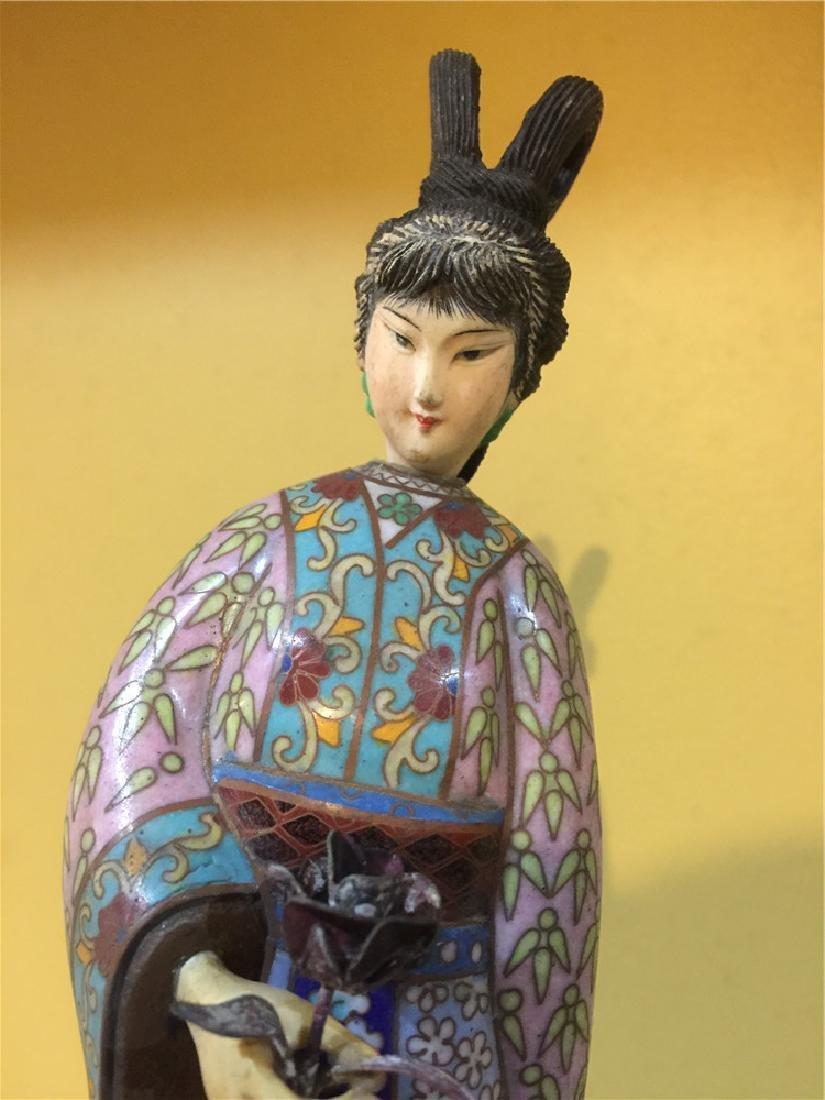 one cloisonne beauty figurine C - 5