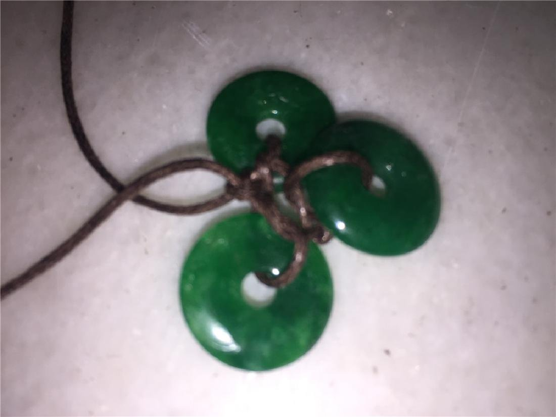 Three Jade necklace