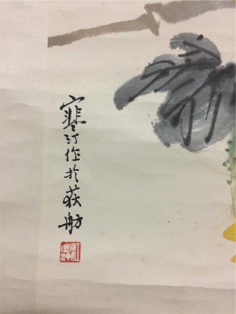 Fine Chinese scroll painting with plants - 2