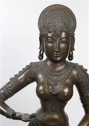 South Asian copper bronze Buddha Large
