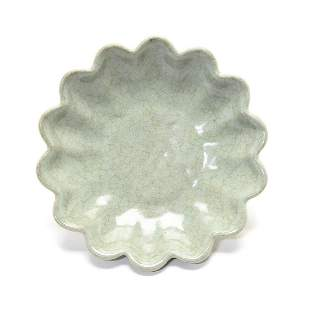 Petal-shaped plate from Song Dynasty in China