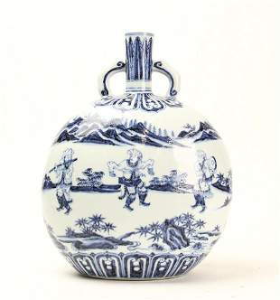Early Ming Dynasty Style Blue and White Character