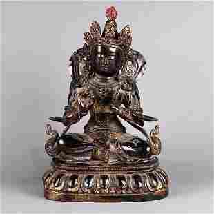 Bronze Buddha Statue in Ming Dynasty