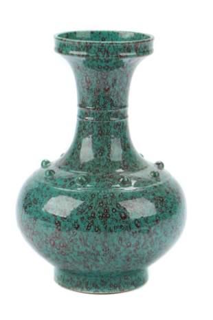 Chinese Qing Dynasty style furnace-jun glaze vase