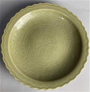 Yuan Dynasty style Longquan charger