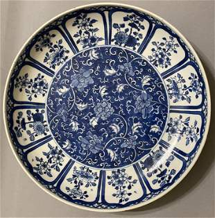 Qing Dynasty Kangxi Mark blue and white 12 months
