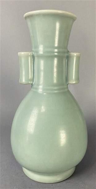 Longquan kiln style ear porcelain vase