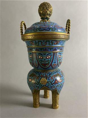 Middle/late Qing Dynasty Cloisonne copper enamel