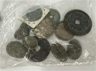 silver coins/bronze coins in different shape and time
