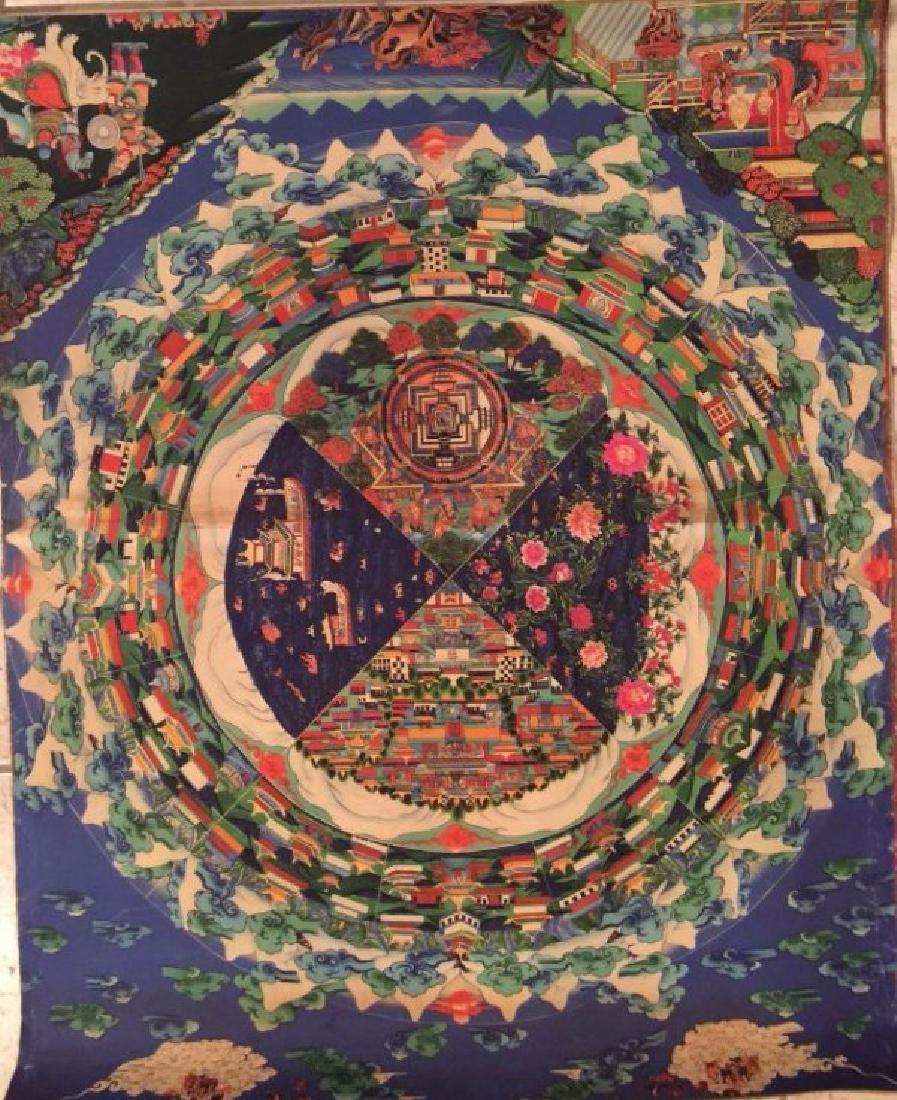 a rare Tangka buddha painting
