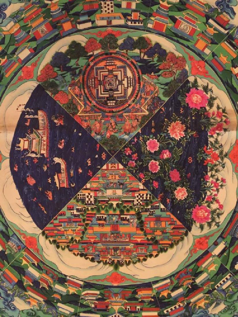 a rare Tangka buddha painting - 2