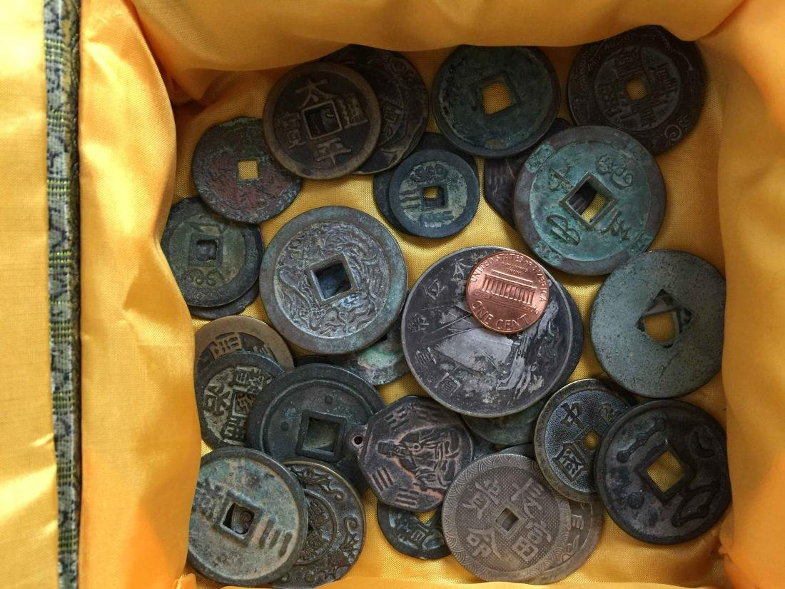 box of ancient coins - 2
