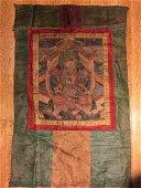 TIBETAN THONKA ON FABRIC, 19TH CENTURY