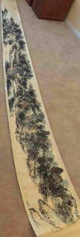 Chinese Long scroll painting landscape