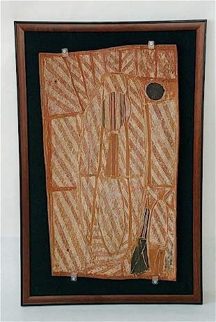 Superb, Central Arnhem Land Australia Bark Painting