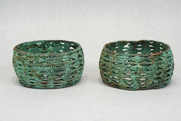 A Pair of Akan Lattice Works Bracelets