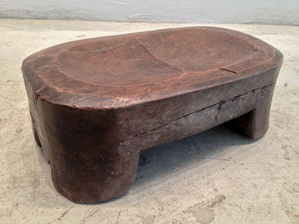 W. African Stool, Glossy Surface