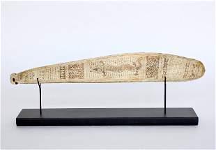 Indonesian Engraved Oracle Bone