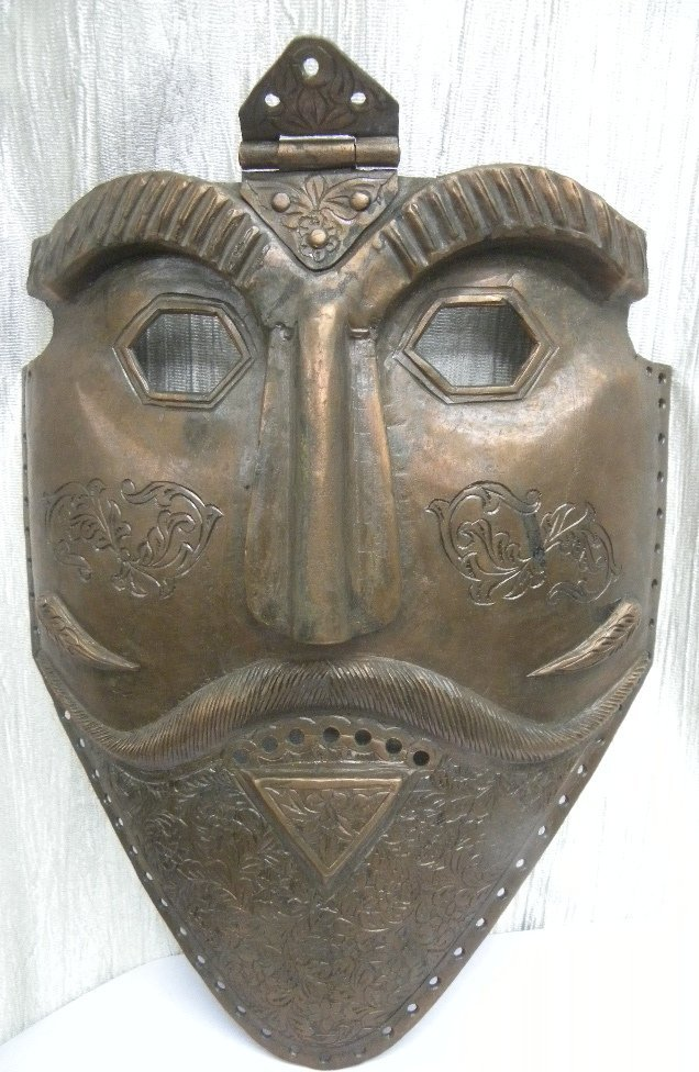 INDO PERSIAN COPPER  FACE MASK 1ST.QUATER 2OTH.C.