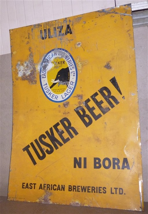 TUSKER BEER EAST AFRICAN TIN SIGN - Apr 11, 2017 | HISTORY