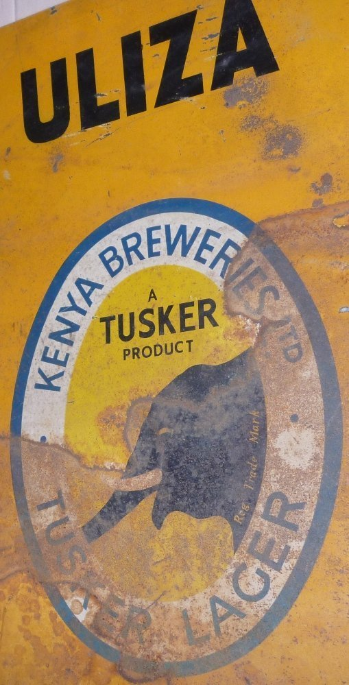 RARE TUSKER BEER KENYA TIN SIGN - Apr 11, 2017 | HISTORY Collections