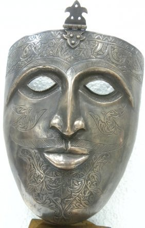 INDO PERSIAN WARRIOR FACE MASK ARABIC WRTING