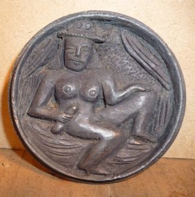 OLD SNUFF BOX EROTIC HAND CARVED WOOD