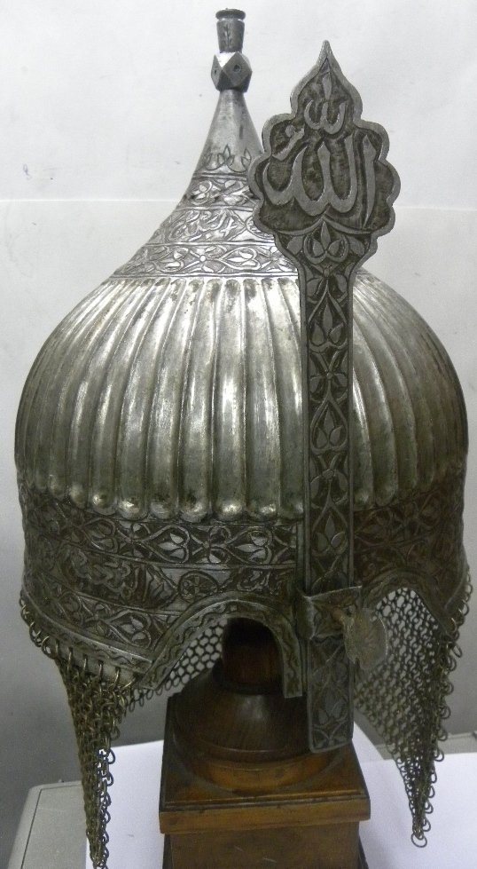 INDO PERSIAN WARRIOR MELON CUT HELMET MANNUAL NICKLE