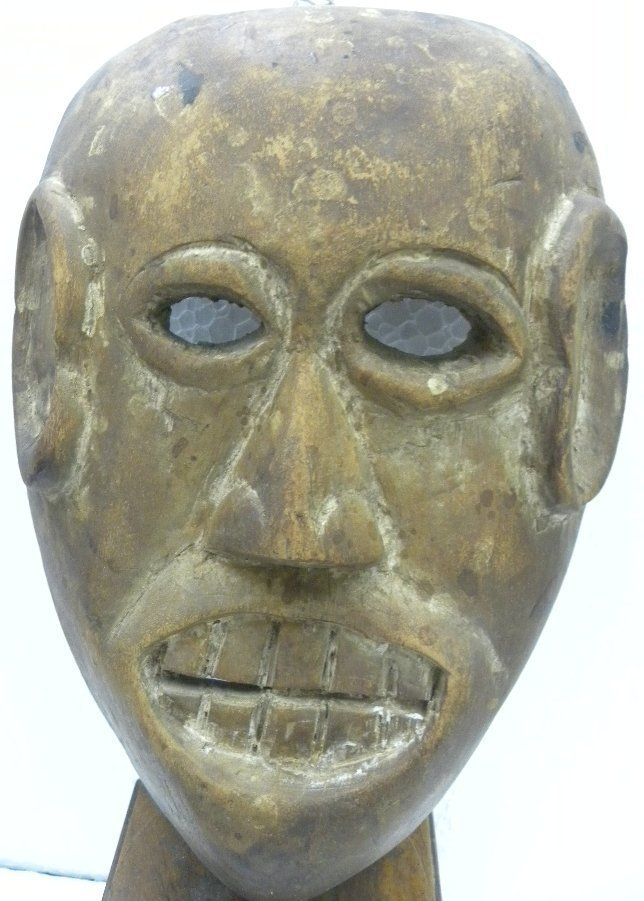 ASIAN PERSIAN WOOD MASK PRE CIRCA 1905