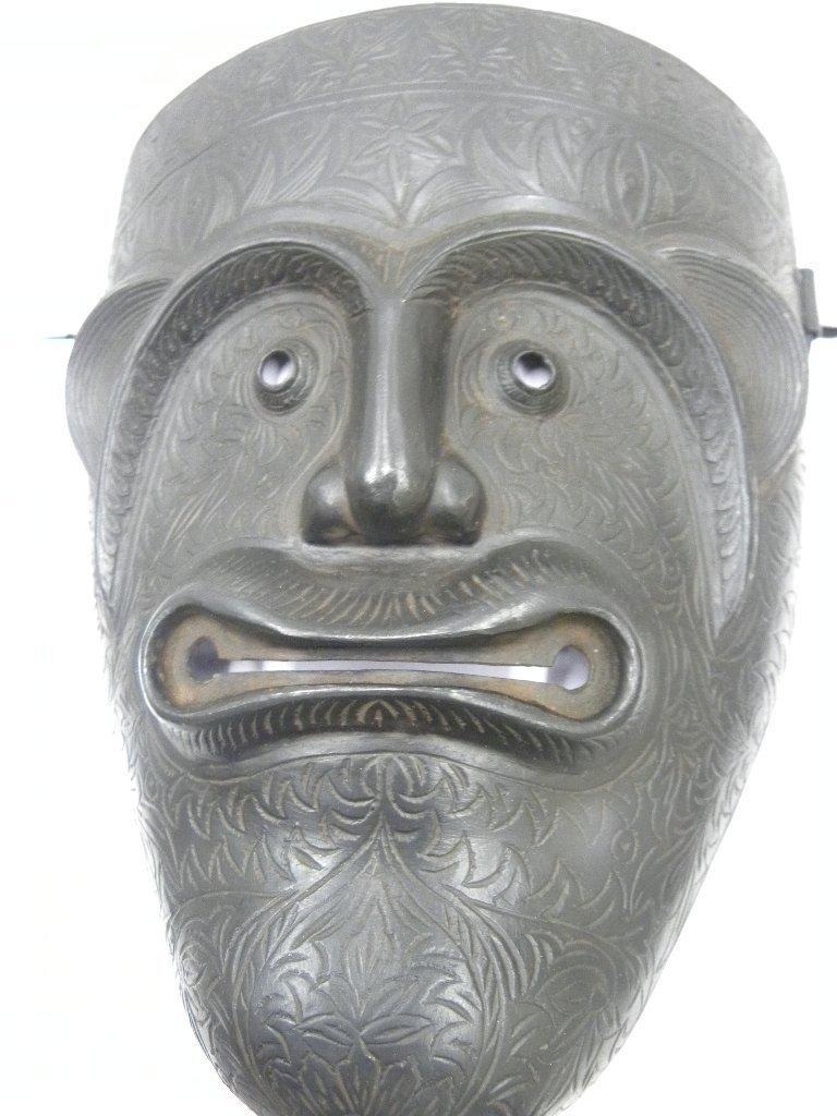 VINTAGE PERSIAN WARRIO FACE MASK DEMON DEVIL FACE