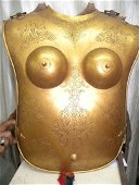 ANTIQUE INDIAN WARRIOR FEMALE CHEST PLATES  FRONT/ BACK