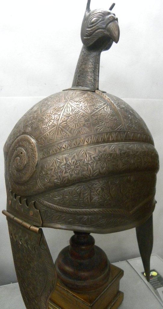 ANTIQUE INDO PERSIAN WARRIOR OWL FACE HELMET