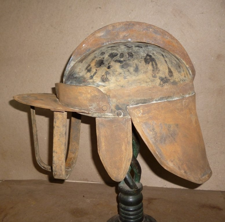 WARRIOR HELMET RARE WITH FRONT AND BACK GUARD