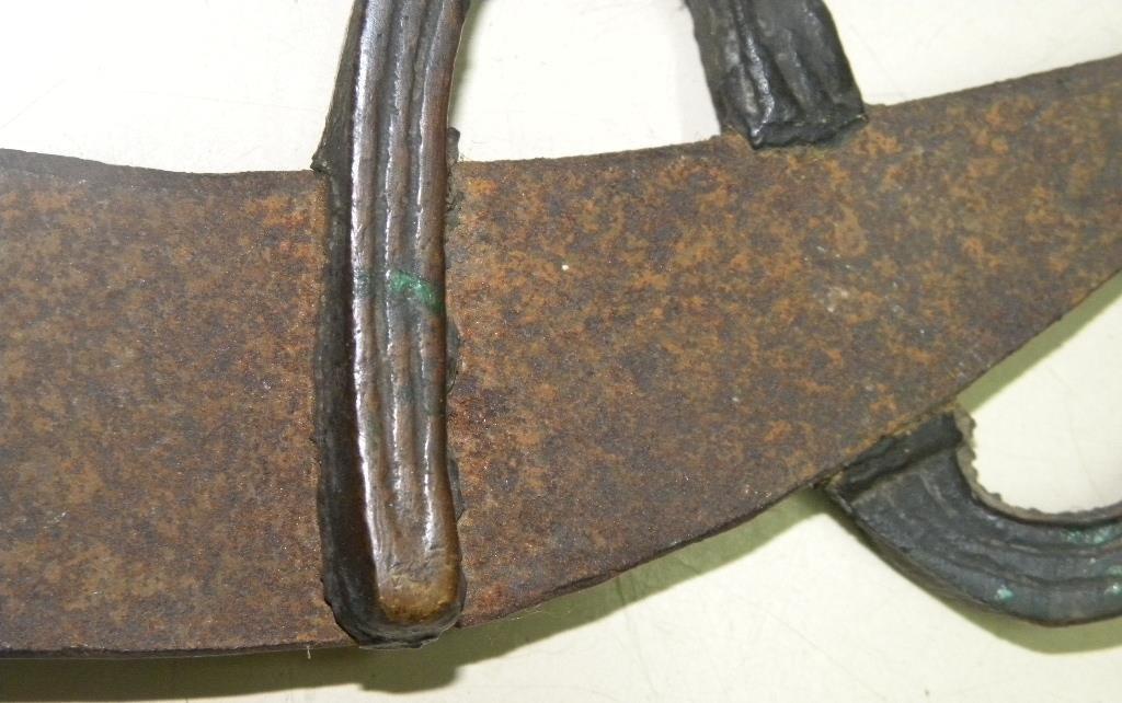 Pre 1940. RARE SMALL SWORD BRONZE FIGURES - 10